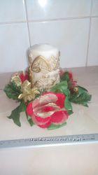 Новогодний декор - венок для свечи