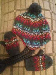 Набір шапка і рукавички на 2-3 роки