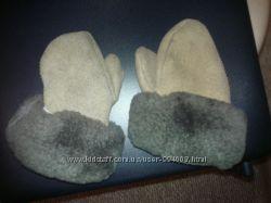 Натуральные замшевые рукавички