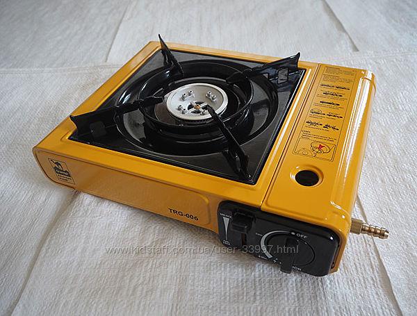 Плита портативная газовая с переходником на баллон Tramp TRG-006