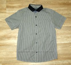 Стильная рубашка с коротким рукавом Next р. 8 лет