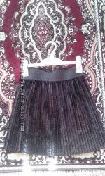 Нарядная велюровая юбка-плиссе Matalan
