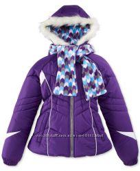 Куртка c шарфом еврозима на девочку London fog