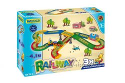 Kid Cars  железная дорога 3, 1м и 4, 1 м , Wader