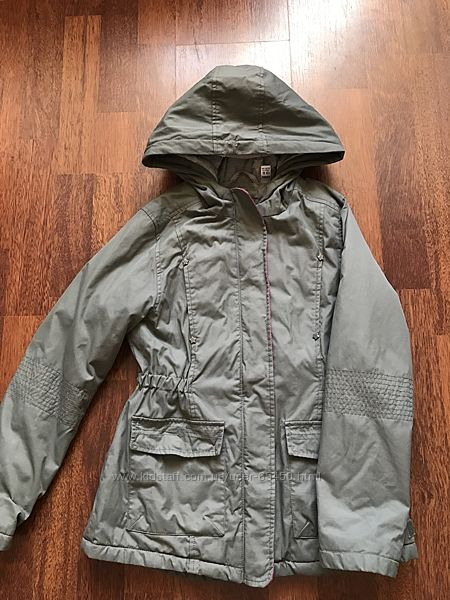 Осенняя утеплённая куртка-парка Okaidi 10 лет