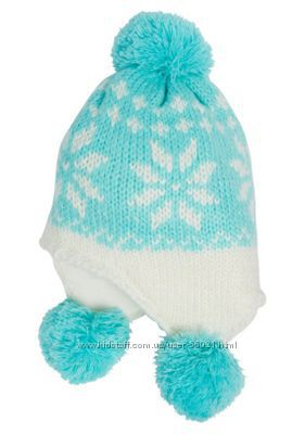 Зимняя теплая шапочка F&F, новая, на объем 51-52 см