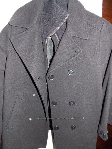 Продам пальто черного цвета, H&M, р. 128, бу