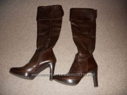 Продам кожаные сапоги Minelli, 36р. ботфорты