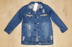 Распродажа удлинённая джинсовая куртка, джинсы для девочки