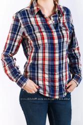 b91c2ffd470 Теплая фланелевая женская рубашка в клетку Montana синего цвета ...