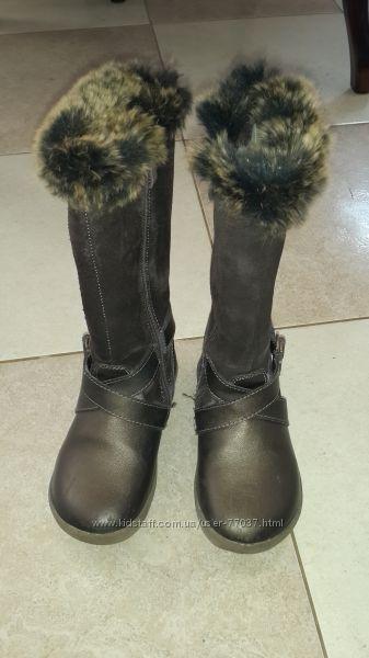 Сапоги  FLAMINGO зимнии, кожа, замша, в хорошем состоянии, 18, 5 см.