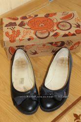 Кожаные туфельки балетки для школы и не только, разм. 37
