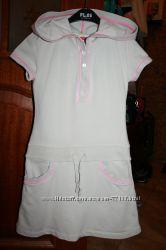 Комфортное платьице в спортивном стиле, 6-7 лет