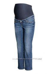 H&M укороченные джинсы, капри для беременных