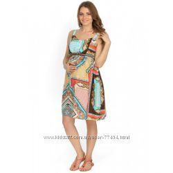 Сарафан Кейти с платочным принтом для беременных и кормящих