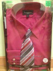 Новая мужская рубашка с галстуком из США р. L