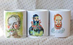 Чашки с авторским принтом