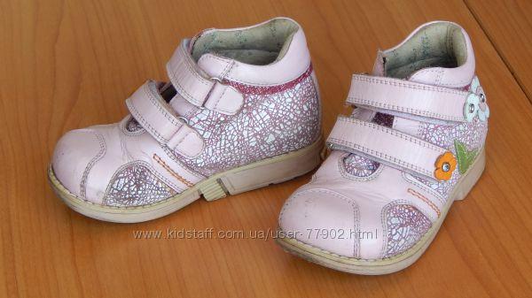 Кожаные ботинки Ortopedia 24р.