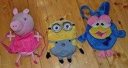 рюкзаки в садочок, для прогулянки, Пеппа, Посіпака, Карич