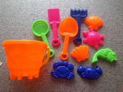 Игрушки летние для улицы и дома песочные наборы, ветрячок, мыльные пузыри