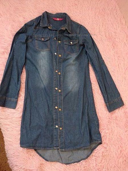 Платье, туника джинсовая