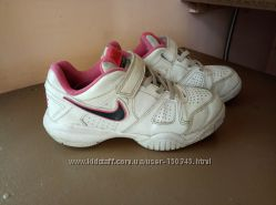 Кожаные кроссовки NIKE 20, 2 см р. 31, 5 Оригинал