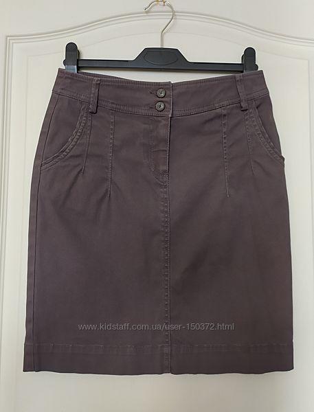 Джинсовая юбка O&acuteSTIN шоколадного цвета, р-р 34 - XS, 42 наш