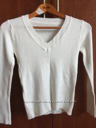 Белая блуза, кофточка М