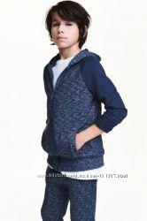 толстовка H&M рост 136-140 146-152 темно синий меланж