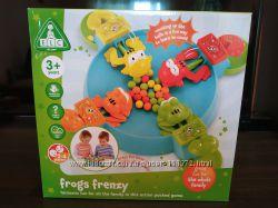 Настольная развивающая игра Frogs Frenzy ELC Прожорливые лягушки