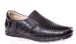 Школьные кожаные туфли KANGFU, код 674