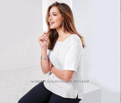 Белая футболка- блуза из вискозы EU 4042, RU 4648. 44-46 наш 50-52Тchibo