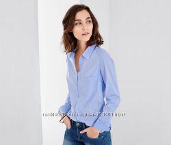 Стильная рубашка в полоску и горошек из хлопка, TchiboГермания, наш 50-52