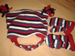 Комплект шапка и варежки Mothercare на 6-12мес до 80см