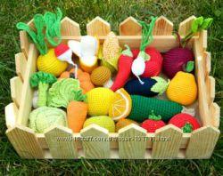 Вязанные овощи и фрукты, в ассортименте, собери свой набор