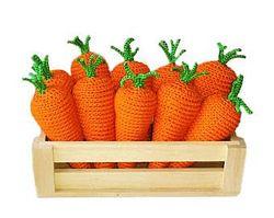 Морковки ручной работы 5шт, игрушки Монтессори, развивающие, кухня, еда