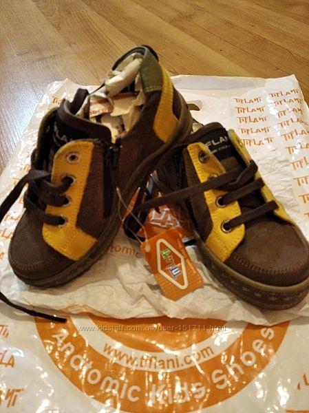 Кожаные и замшевые ортопедические ботинки туфли на мальчика Tiflani Турция