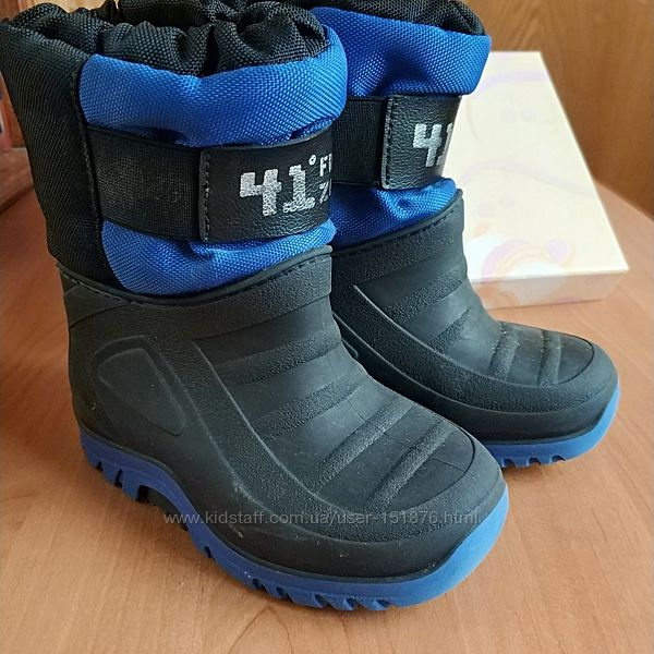 Зимові чоботи на відлигу 23-24 см