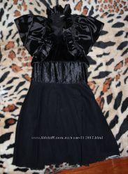 Нарядное черное платье с болеро