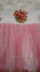 Вышитое платье бисером 2-3 года. Новое Цена снижена
