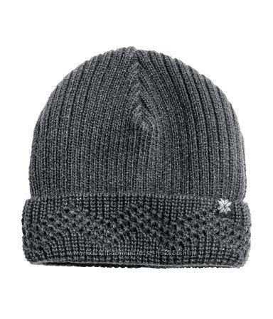Вязаная демисезонная шапка H&M Америка на девочку