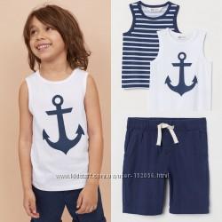 Две майки и шорты H&M комплект на мальчика