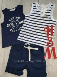 Две майки и шорты H&M комплект на мальчика хлопок