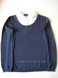 Школьный пуловер-обманка.