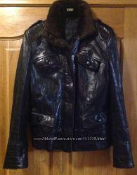 Кожаная куртка 40р. , идеальное состояние, Турция