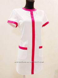 Халат платье медицинский 42-54 размер