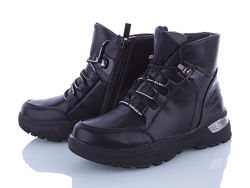 Демисезонные ботинки для девочки clibee польша р.36-23,0 см, black