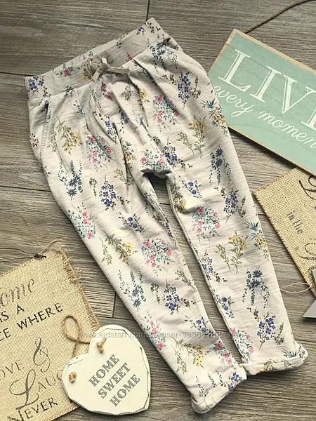 Штаны брюки в цветы next 3-5 лет