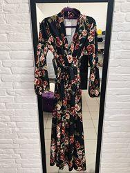 Стильное цветочное платье в пол макси в наличии италия