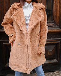 Стильная еко шубка пальто демисезонное в наличии два цвета